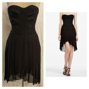 NWT BCBG 'April' Silk Hi-Low Corset Cocktail Dress